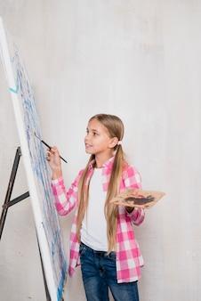 Conceito de artista com garota