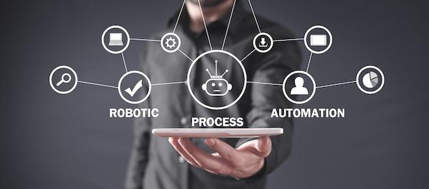 Conceito de automação de processos robóticos