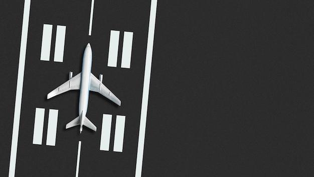 Conceito de avião na pista