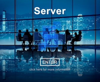 Conceito de banco de dados de Internet on-line de tecnologia de servidor