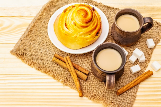 Conceito de bebida quente de café doce outono