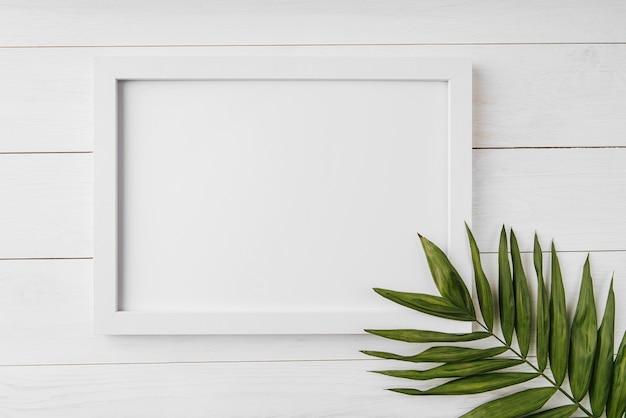 Conceito de bela moldura em branco