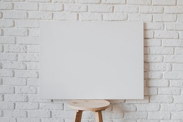 Conceito de bela moldura em branco Foto Premium