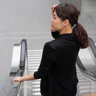 Conceito de bela mulher japonesa