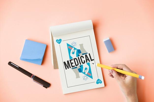 Conceito de bem-estar, tratamento médico de saúde