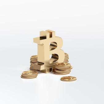 Conceito de bitcoin nova moeda de criptografia de dinheiro virtual