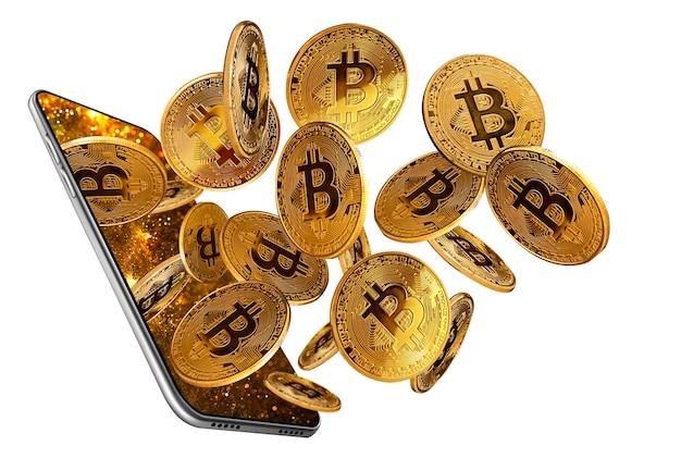 Conceito de bitcoins