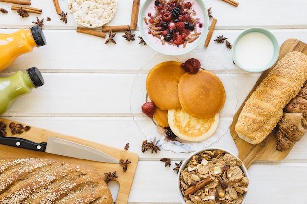 Conceito de café da manhã saudável