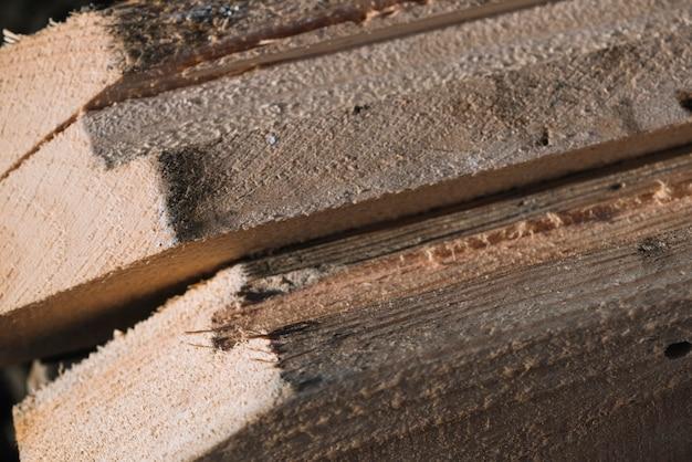 Conceito de carpintaria com madeira