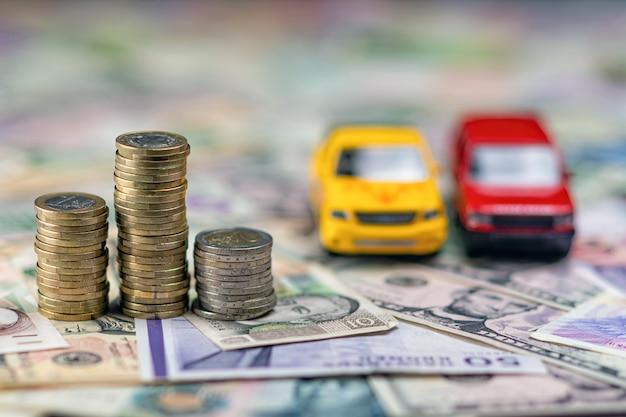 Conceito de carro e dinheiro