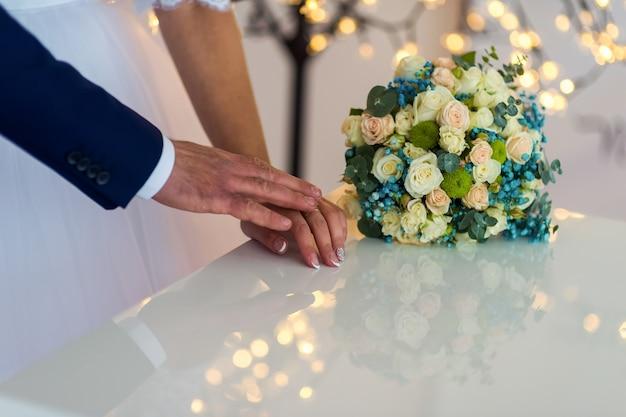 Conceito de casamento. festa de casamento