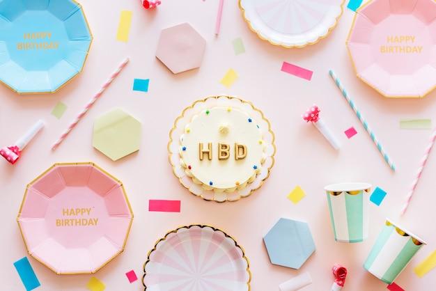 Conceito de celebração de festa de aniversário