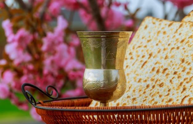 Conceito de celebração de pesah feriado de páscoa judaica. passar o conto de páscoa de hagadá
