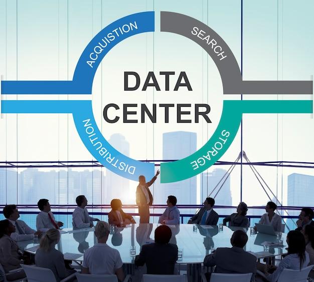 Conceito de centro de proteção de informações de dados