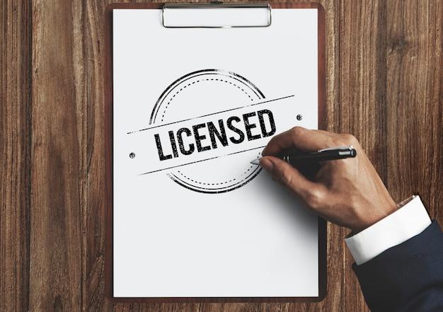Conceito de certificação autorizado e aprovado de garantia