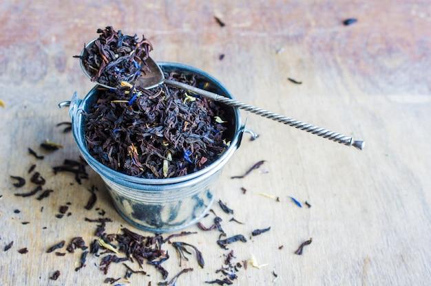Conceito de chá floral orgânico