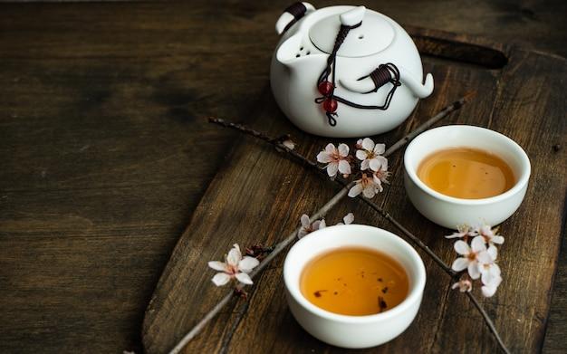Conceito de chá verde estilo asiático