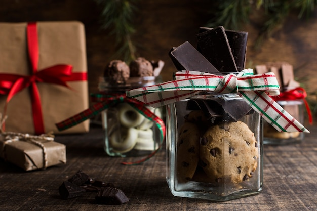 Conceito de chocolate e natal