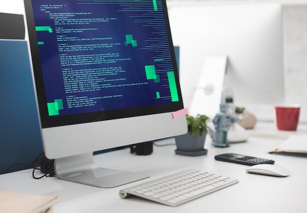 Conceito de ciberespaço de codificação em html para programação php