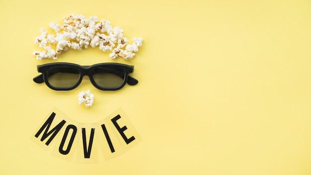 Conceito de cinema com copyspace