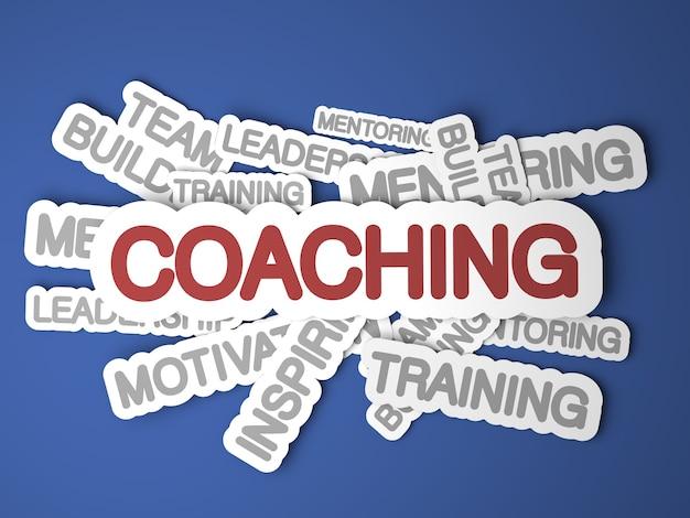 Conceito de coaching. renderização 3d.