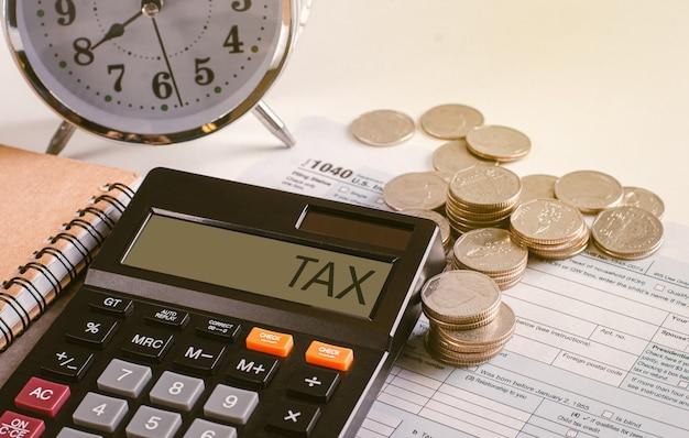 Conceito de cobrança de dívidas e temporada de impostos