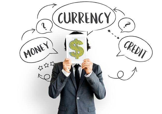 Conceito de comércio de economia de moeda estrangeira