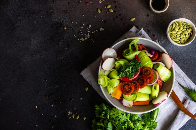 Conceito de comida saudável