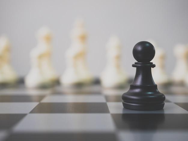 Conceito de competição de negócios de planejamento estratégico