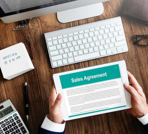 Conceito de compra de seguro de acordo de vendas