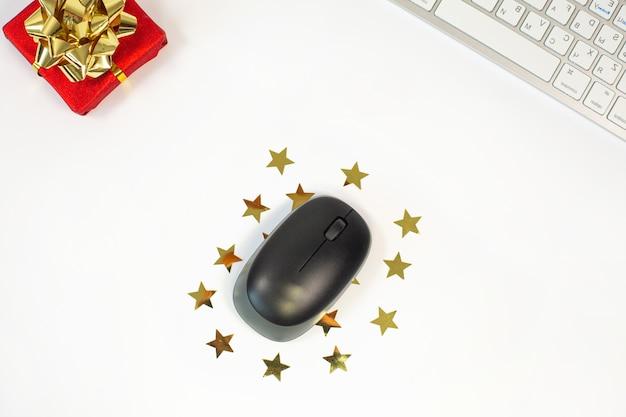 Conceito de compras online com teclado