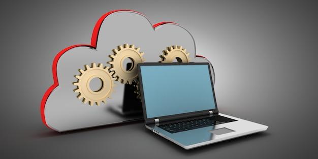 Conceito de computação em nuvem 3d