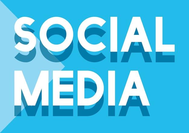 Conceito de comunicação de conexão de rede social