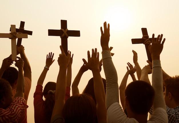 Conceito de comunidade cristã católica de religião cruzada