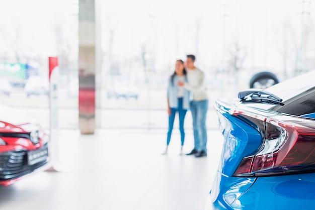 Conceito de concessionária de carros