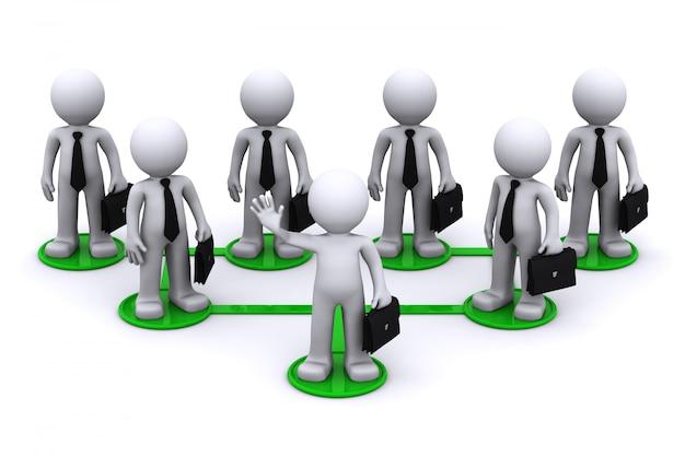Conceito de conexão de rede de negócios
