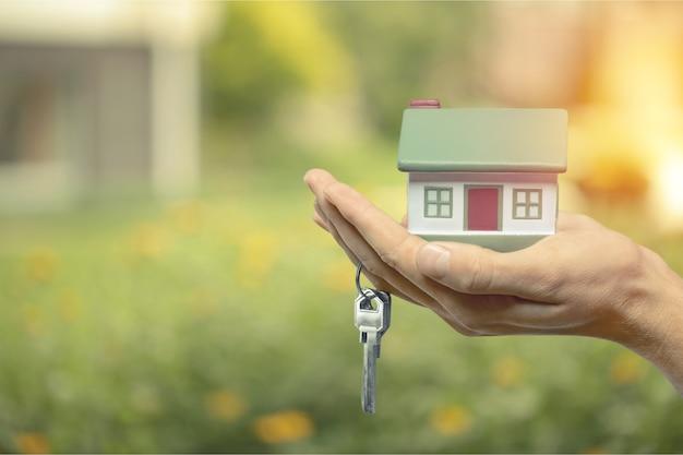 Conceito de construção, hipoteca, imobiliário e propriedade
