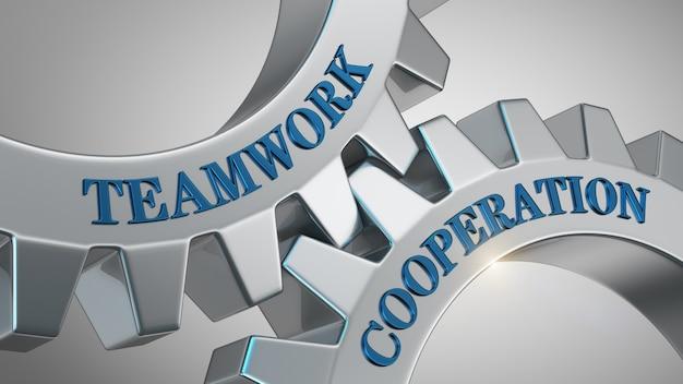 Conceito de cooperação de trabalho em equipe