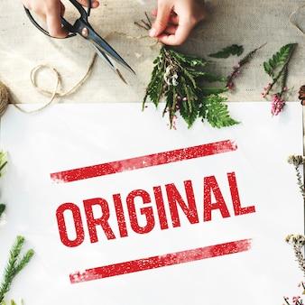 Conceito de copyright de marca registrada de patente original