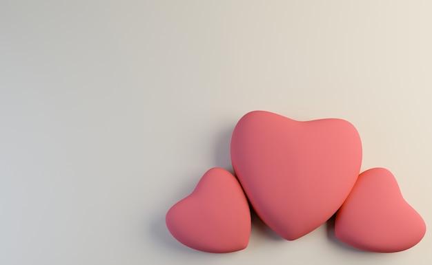 Conceito de coração rosa dia dos namorados