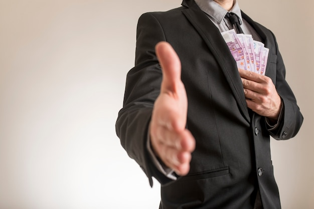 Conceito de corrupção ou suborno de negócios