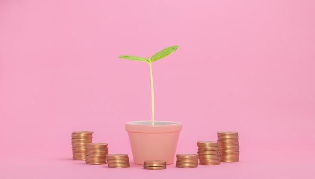 Conceito de crescimento financeiro, investimento em ações, pagamento de impostos