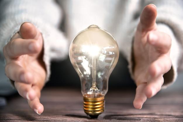 Conceito de criatividade, brainstorming, ideias de negócios