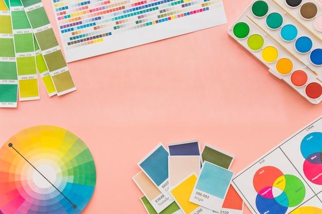 Conceito de criatividade com cores
