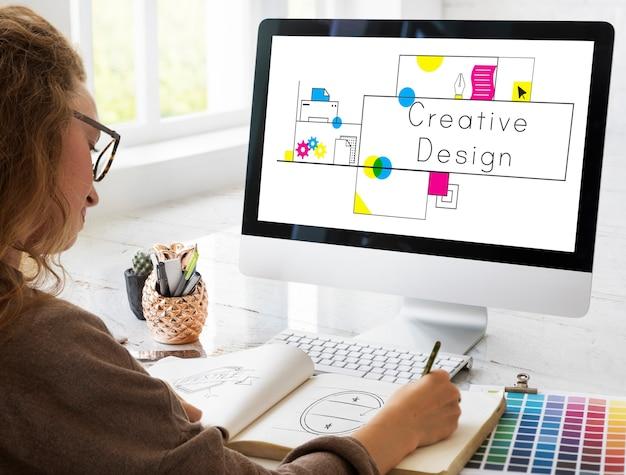 Conceito de criatividade de design de ideias criativas Foto gratuita