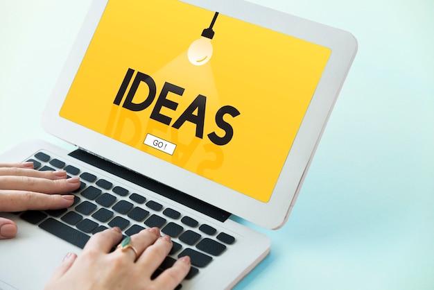Conceito de criatividade de idéias imaginação inspiração