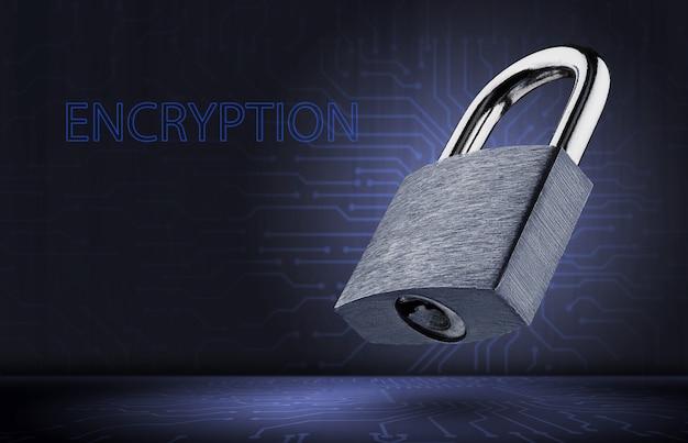 Conceito de criptografia de dados. proteção de dados pessoais.