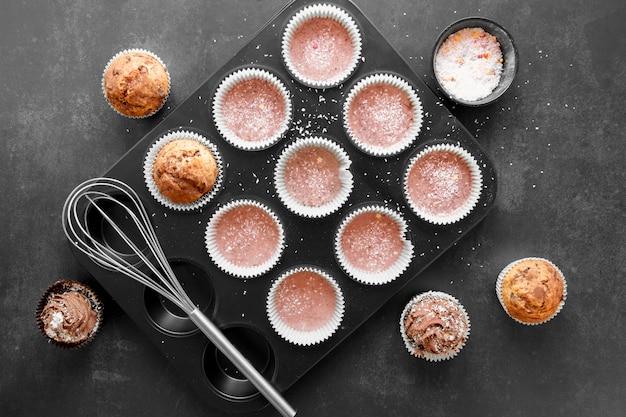 Conceito de cupcakes deliciosos
