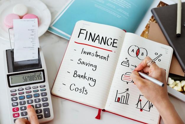 Conceito de custo de banco de investimento financeiro