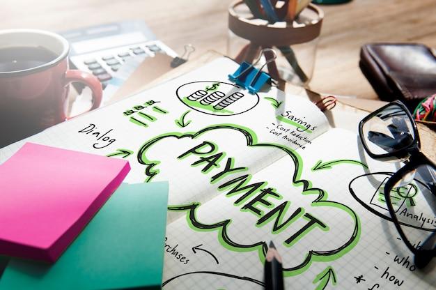 Conceito de custo de transação de varejo de pagamento, pagamento